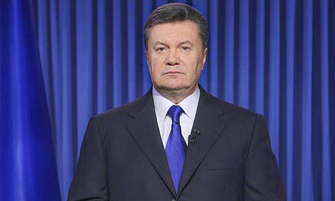 ITAR TASS KIEV UKRAINE FEBRUARY 20 2014 President of Ukraine Viktor Yanukovich Victor Yanukovy