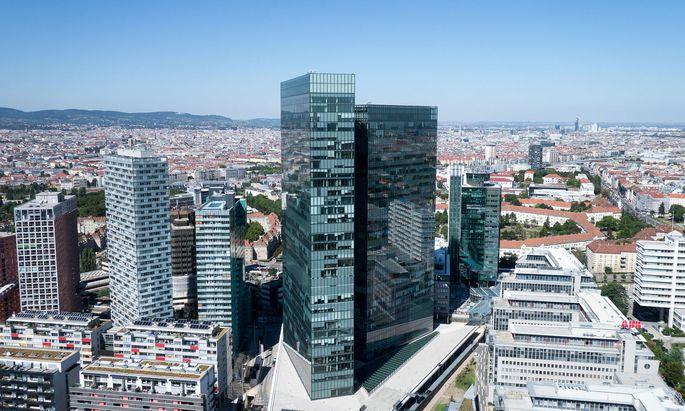 Twin Towers auf dem Wienerberg: Von der Immofinanz einst als Konzernsitz konzipiert, sind sie heute ein Aushängeschild für das Myhive-Konzept.