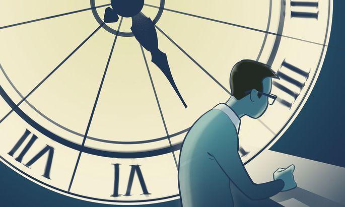 Wirtschaftsrecht Arbeitszeit Illustration