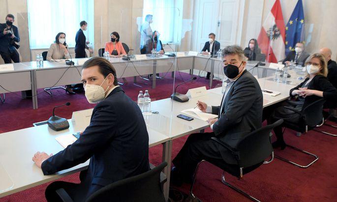 Die Regierungsklausur ging nahtlos in eine Sitzung des Ministerrats über
