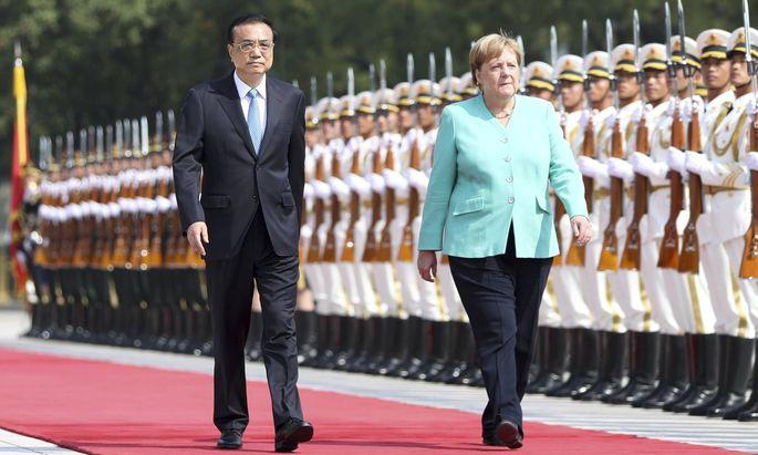 Der chinesische Ministerpräsident Li Keqiang und die deutsche Kanzlerin Merkel.