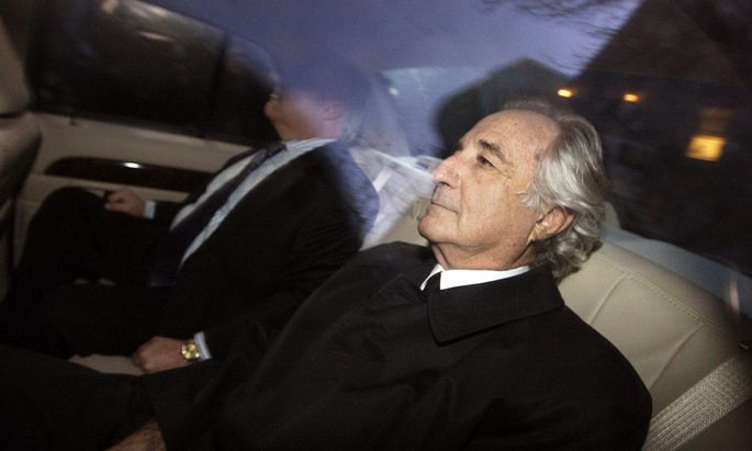 Bernard Madoff arrives home after a hearing at Federal Court, in New York in this file photo