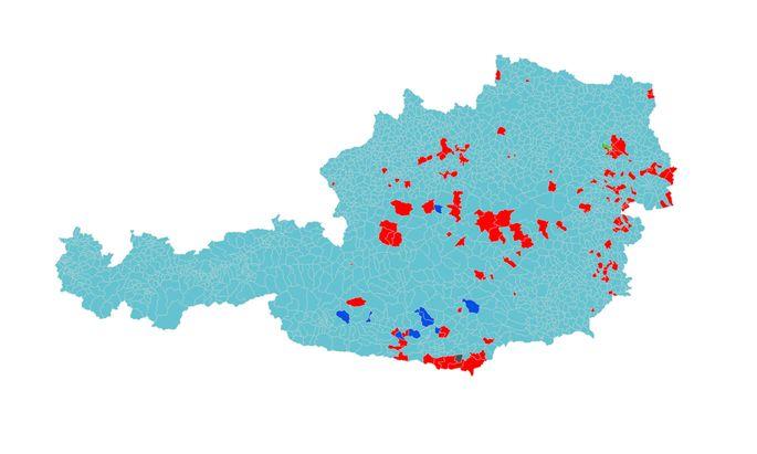 Grafik zu den Gemeindeergebnissen