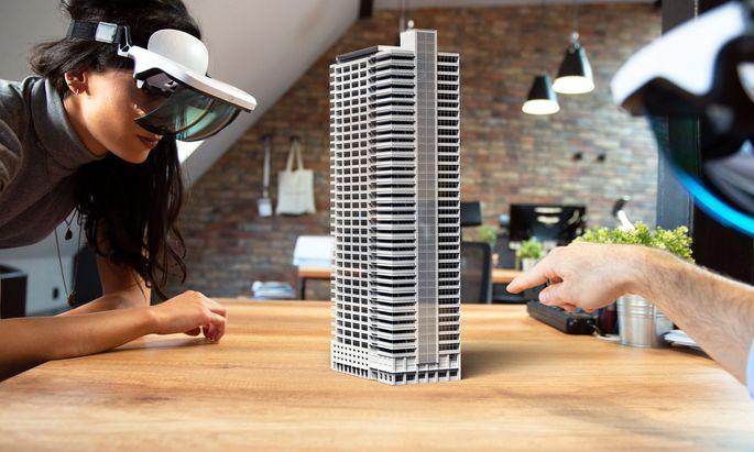 In Teilbereichen der Immobilienwirtschaft bedient man sich bereits fortgeschrittener Technologien wie Augmented Reality (im Bild).