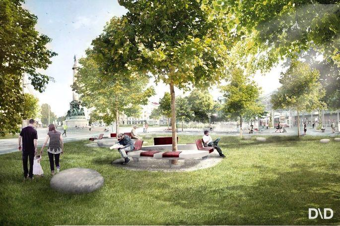 Ein Verkehrsknotenpunkt als Grünoase. Zumindest ist das die Vision der Stadtregierung für den Wiener Praterstern.