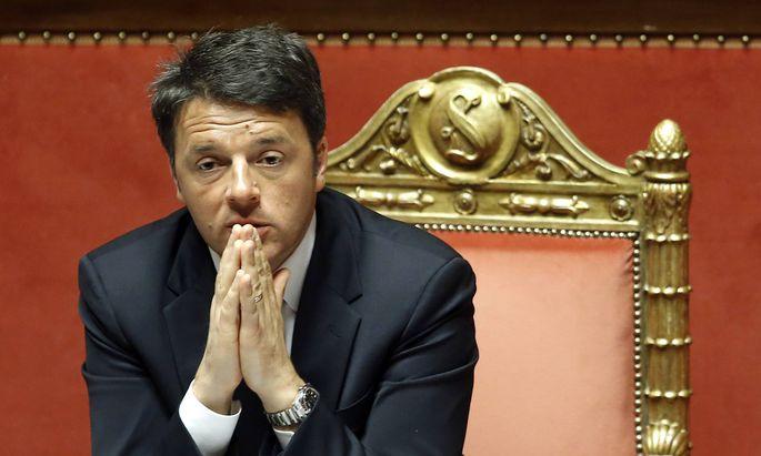 Matteo Renzi Roma 22 04 2015 Senato Informativa urgente del Presidente del Consiglio sulla tragedia