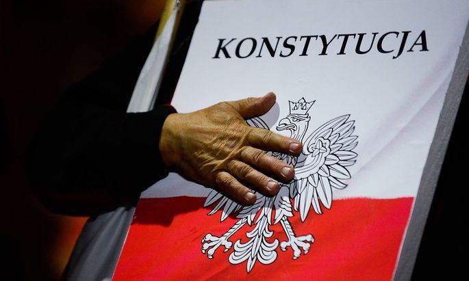 Auch in Polen gab es Proteste gegen die Reform - hier ein Bild aus Krakau.