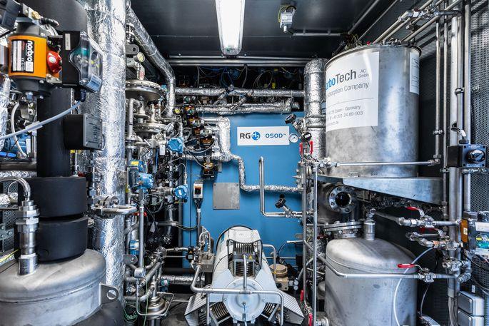 Das Innenleben des OSOD H2 Generators.