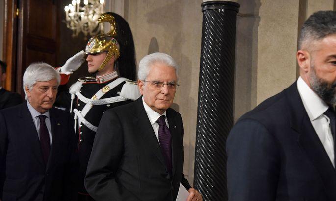 Ein zurückhaltender Sizilianer: Italiens Staatspräsident, Sergio Mattarella.