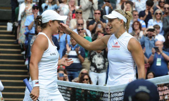 Ashleigh Barty gewinnt gegen Wimbledon-Siegerin 2018 Angelique Kerber
