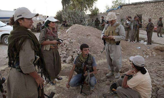 Kämpfer der kurdischen PKK auf einem Archivbild