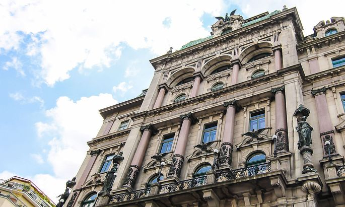 Pompöse Fassade, lichter Innenhof: 1890 erbautes Palais in der Wiener Innenstadt.