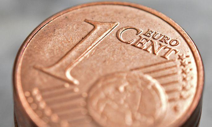 Die nahezu wertlosen Ein- und Zwei-Cent-Münzen sind die mit Abstand häufigsten Geldstücke in der Eurozone.