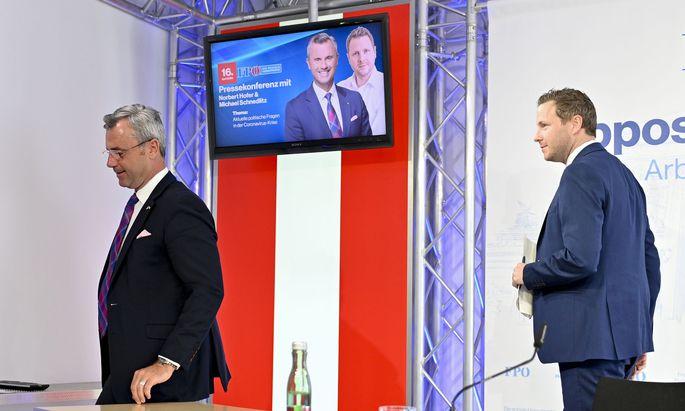 FPÖ-Chef Norbert Hofer und Generalsekretär Michael Schnedlitz