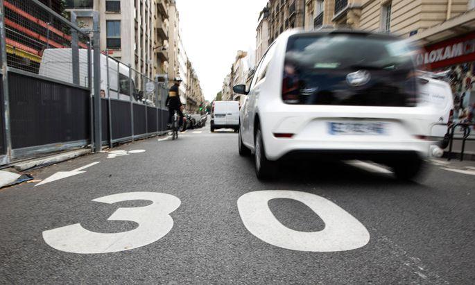 In Paris gilt seit einem Monat Tempo 30