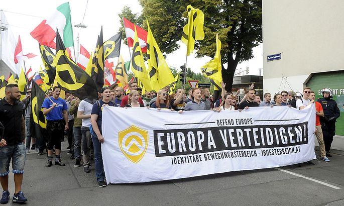 Identitäre bei der Demo am Samstag in Wien