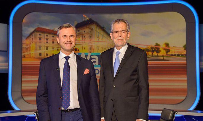 Archivbild: Hofer und Van der Bellen im ersten ORF-TV-Duell