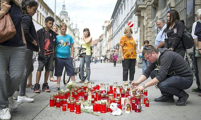 Trauer in der Grazer Innenstadt
