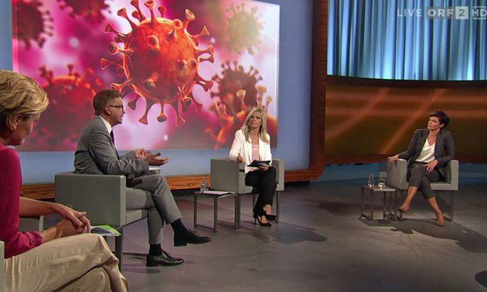 SPÖ-Chefin Pamela Rendi-Wagner (rechts) nützte die Situation nicht aus, um auf den Minister hinzuhacken.
