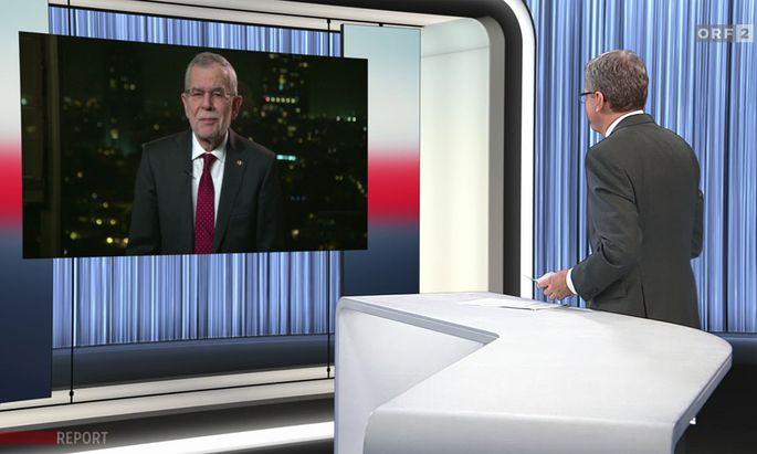 """Ende Mai war Wolfgang Wagner zum neuen """"Report""""-Chef ernannt worden, im Bild ist er beim heftig kritisierten Interview."""