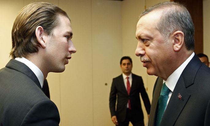 Kurz, Erdogan im Jahra 2014