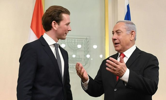 Bundeskanzler Seabstian Kurz und Premiers Benjamin Netanyahu vergangenes Jahr in Israel