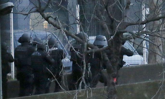 Zugriff der Polizei auf den Supermarkt in Paris.