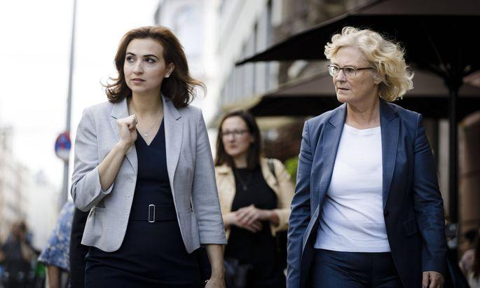Alma Zadić und Christine Lambrecht