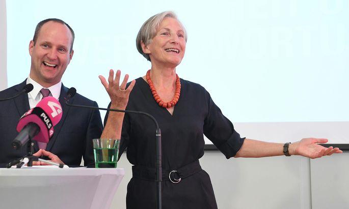 Neos-Chef Matthias Strolz und seine neue Verbündete, Ex-Höchstrichterin Irmgard Griss: Man teile die gleichen Werte und die gleichen Leidenschaften.