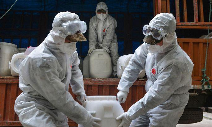 Die meisten Todes- und Infektionsfälle treten weiterhin in Hubei auf.