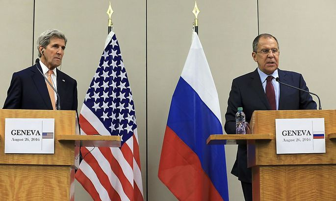 John Kerry und Sergej Lawrow verhandelten in Genf über eine Syrien-Waffenruhe.