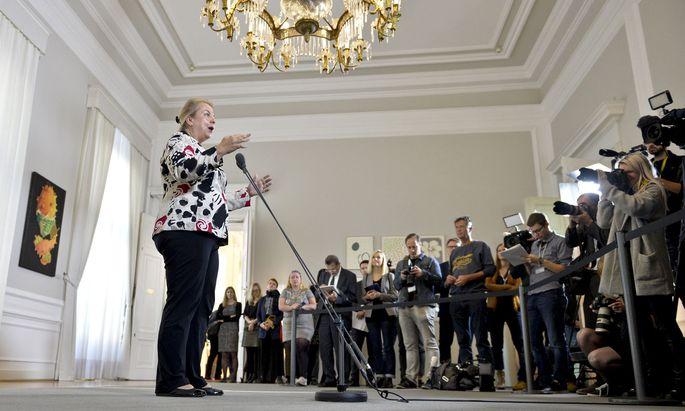 Die Sozialversicherungreform war eines der Prestigeprojekte der ÖVP-FPÖ-Regierung (im Bild: Sozialministerin Beate Hartinger-Klein).