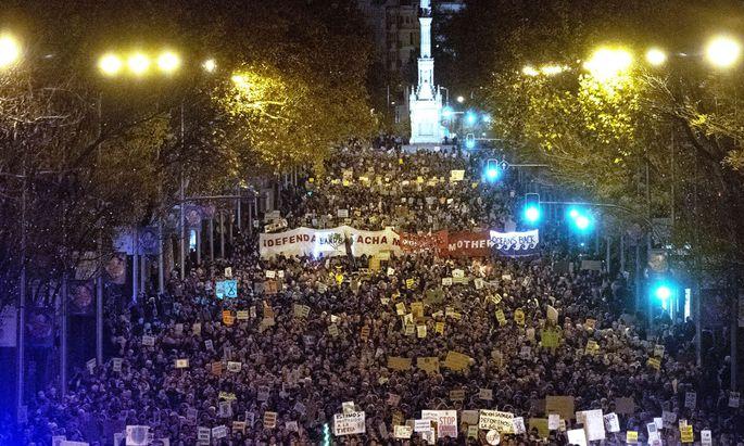 In Madrid fand die größte Klimademonstration statt, die es in Spanien je gegeben hat.