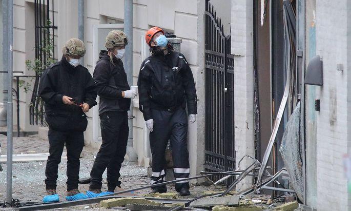 An dem Gebäude in Kopenhagen entstanden große Schäden.