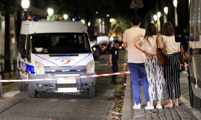 Die Polizei sichert den Tatort