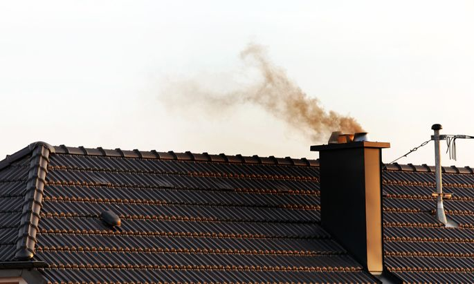 Chimney of a residential building