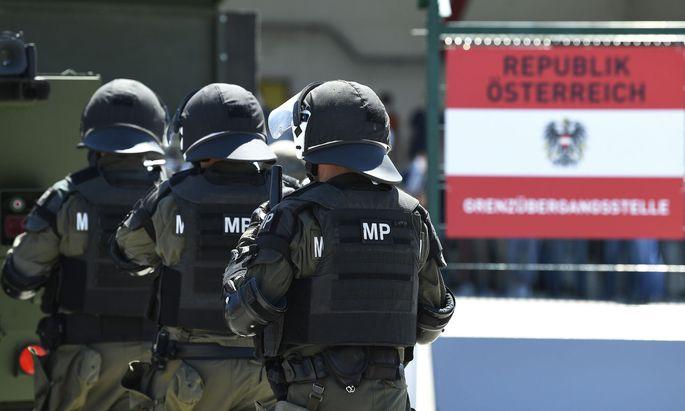 Grenzschutz im Burgenland
