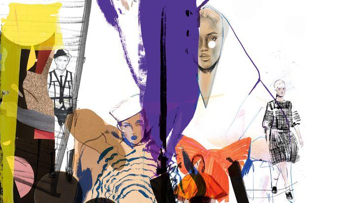 """Blagovesta Bakardjieva zeichnet für das """"Schaufenster"""" seit Jahren die Haute-Couture-Kollektionen – diesmal ließ sie sich besonders von Gaultier, Chanel, Valentino und Givenchy inspirieren."""
