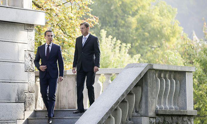 Bundeskanzler Christian Kern war in Ljublana beim slowenischen Premier Miro Cerar zu Gast.