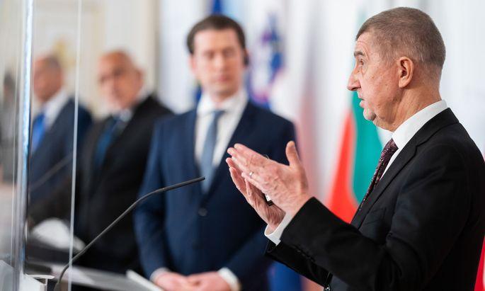 Andrej Babiš forderte gemeinsam mit Kanzler Kurz einen Korrekturmechanismus bei der Impfstoffverteilung. Beide Länder trugen den Kompromiss dann aber nicht mit.