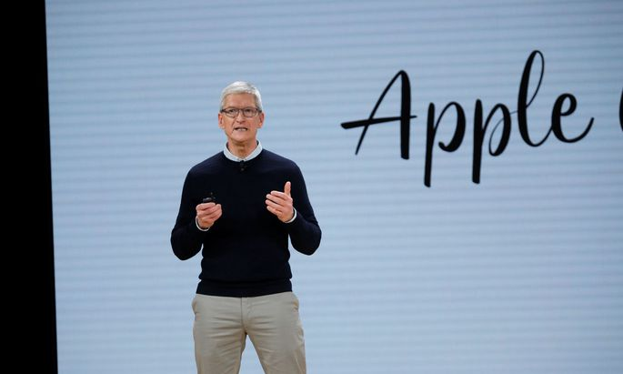 Cook, CEO of Apple Inc., takes part in an education-focused event in Chicago