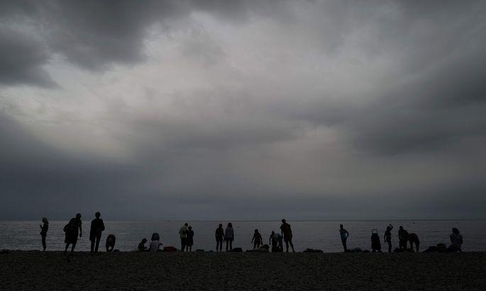 Unwetter an der französischen Mittelmeerküste