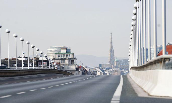 Leere Straßen in Wien