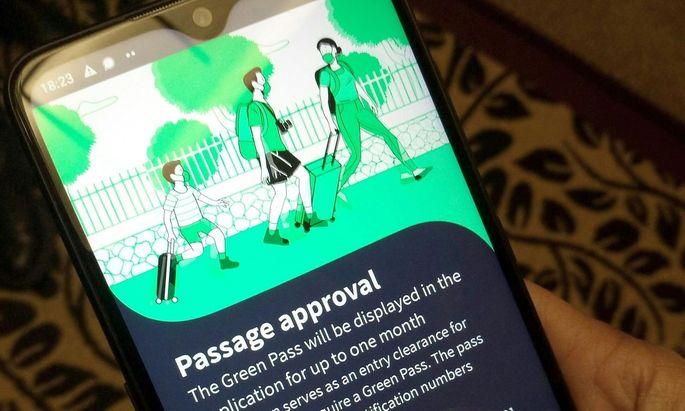 Der elektronische Impfpass in Form einer Handy-App, wie es ihn in Israel bereits gibt.
