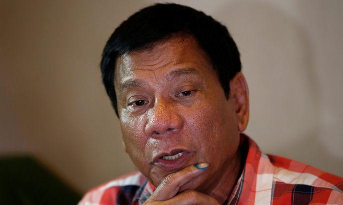 """Duterte will ein """"starker Führer"""" sein."""
