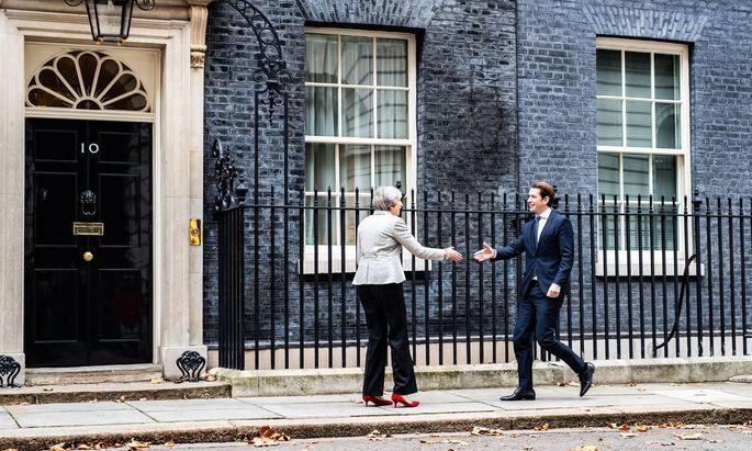Premierministerin May empfing am Donnerstag Bundeskanzler Kurz in London.