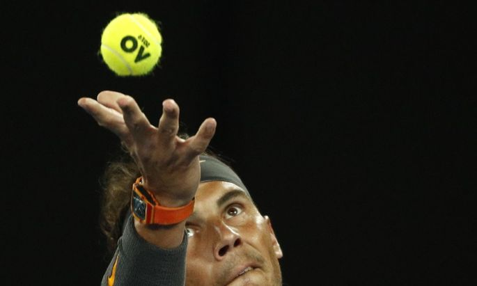 Rafael Nadal und der Stein des Anstoßes.