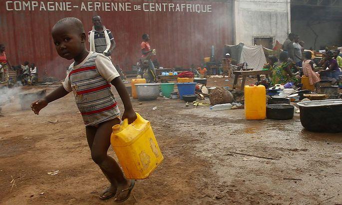 Auf der Flucht. Der Konflikt in der Zentralafrikanischen Republik vertrieb Zehntausende Menschen.