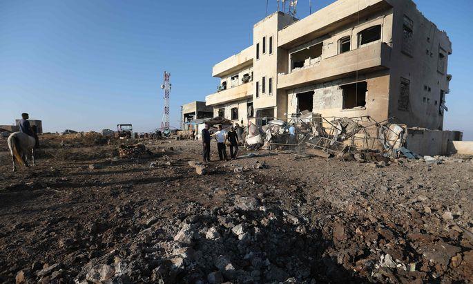 Zerstörungen nach einem russischen Luftangriff in der Provinz Idlib.