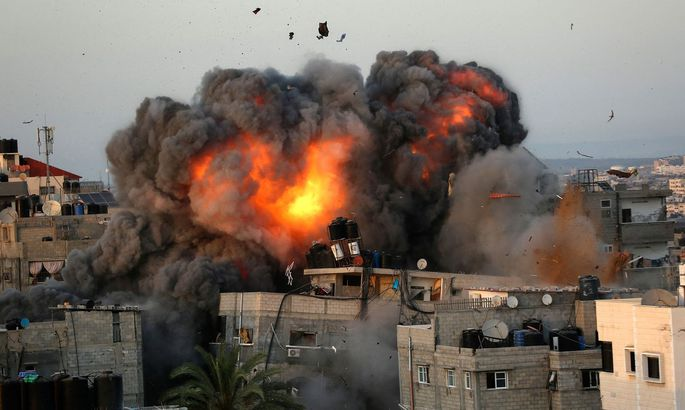 Feuerball in Gaza
